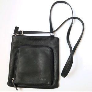 Fossil Black Leather Crossbody Purse Bag